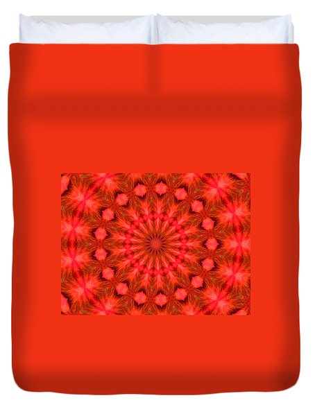 Feathered Rouge Duvet Cover