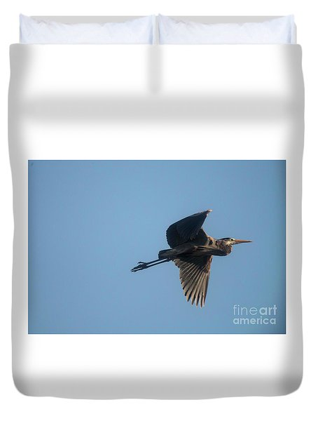 Duvet Cover featuring the photograph Feathering The Nest by David Bearden