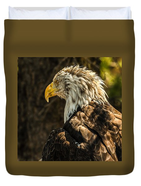 Duvet Cover featuring the photograph Feathers In Light by Yeates Photography