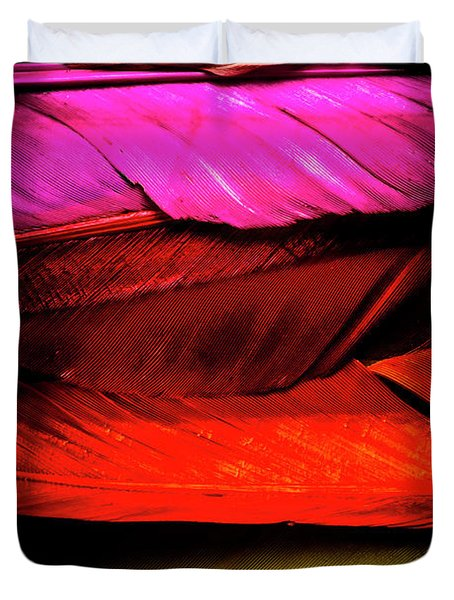 Feathers Of Rainbow Color Duvet Cover