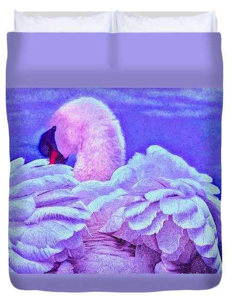 Feathers Of Royalty Duvet Cover by Dennis Baswell