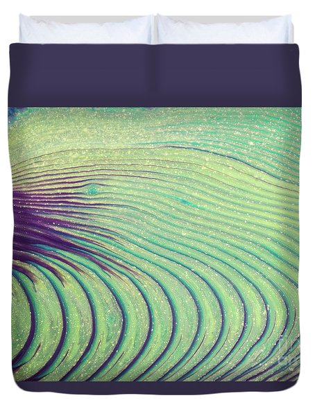 Feathery Ripples Duvet Cover by Julie Clements