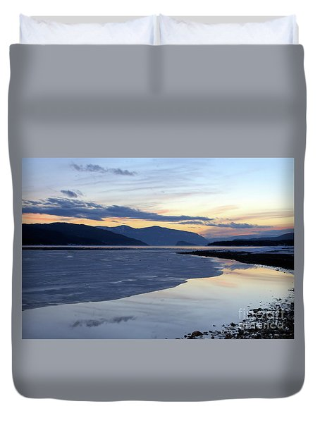 February At Dusk 5 Duvet Cover by Victor K