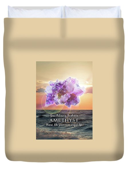 February Birthstone Amethyst Duvet Cover