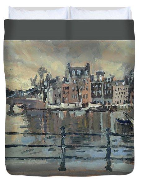 February Morning Along The Amstel Duvet Cover