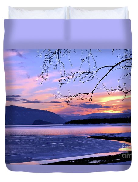 February Sunset 2 Duvet Cover
