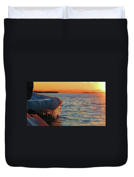 Feburary Sunset Cape Vincent Duvet Cover