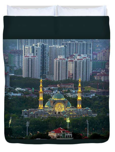 Federal Territory Mosque Duvet Cover by David Gn