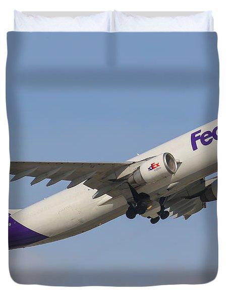 Fedex Airplane Duvet Cover