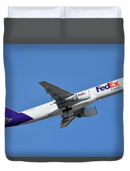 Fedex Express Boeing 757-230 N998fd Phoenix Sky Harbor January 19 2016  Duvet Cover by Brian Lockett