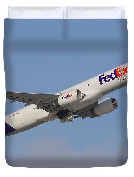 Fedex Jet Duvet Cover