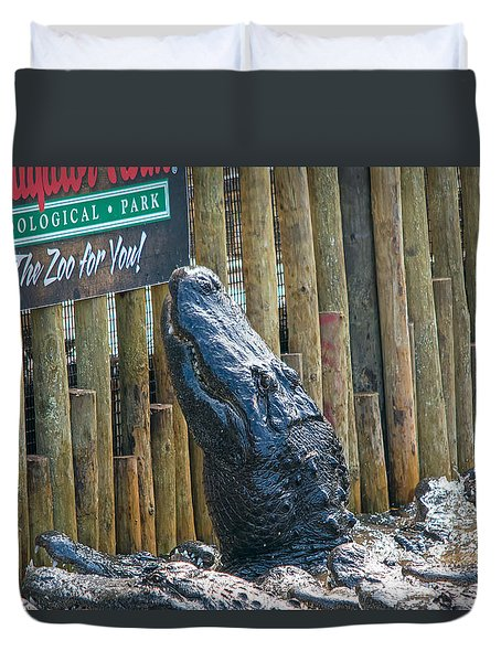 Feed Me Duvet Cover by Kenneth Albin