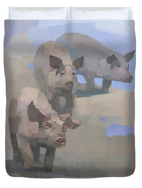 Feed Time Duvet Cover