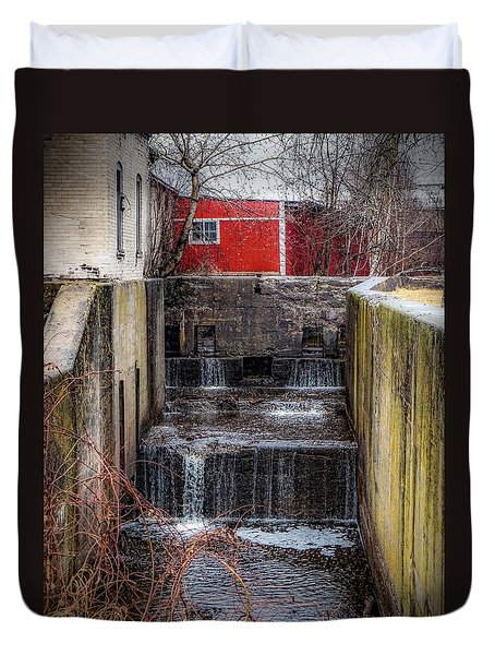 Duvet Cover featuring the photograph Feeder Canal Lock 13 by Kendall McKernon