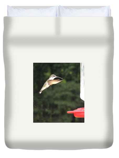 Duvet Cover featuring the painting Feeding Time by Martha Ayotte
