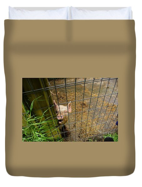 Feeding Time Duvet Cover by Oscar Moreno