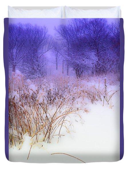 Feel Of Cold Land Duvet Cover