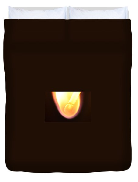 Duvet Cover featuring the photograph Match And Fire by Glenn Gordon