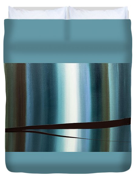 Duvet Cover featuring the painting Feeling Engaged by Carmen Guedez