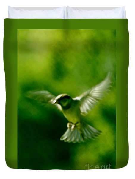 Feeling Free As A Bird Wall Art Print Duvet Cover