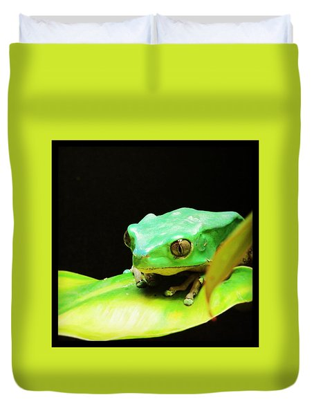 Feeling Froggy Duvet Cover