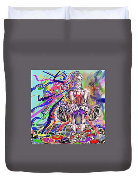 Feeling Pumped Up Duvet Cover