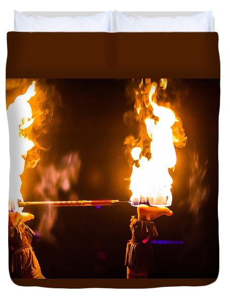 Feet And Fire Duvet Cover