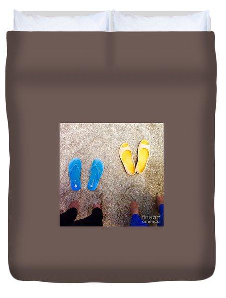 Feet Around The World #23 Duvet Cover