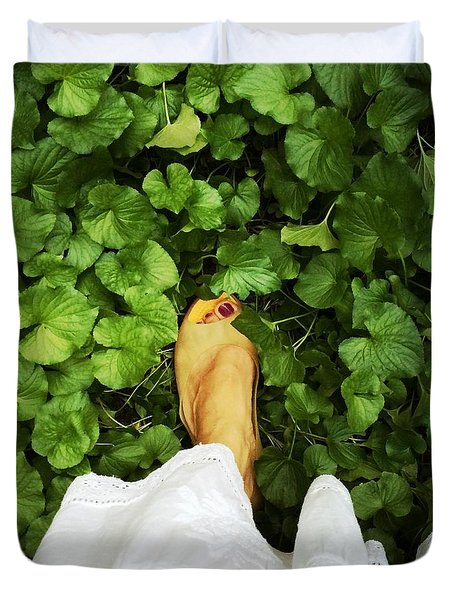 Feet Around The World #3 Duvet Cover