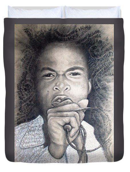 Fela  For Ever Lives Afrika Duvet Cover by Bankole Abe