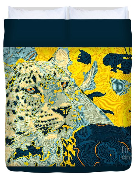 Feline Looks Duvet Cover by Zedi