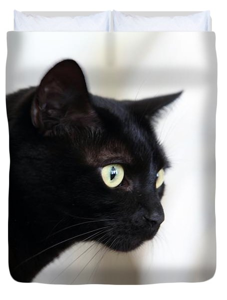 Feline On The Prowl Duvet Cover