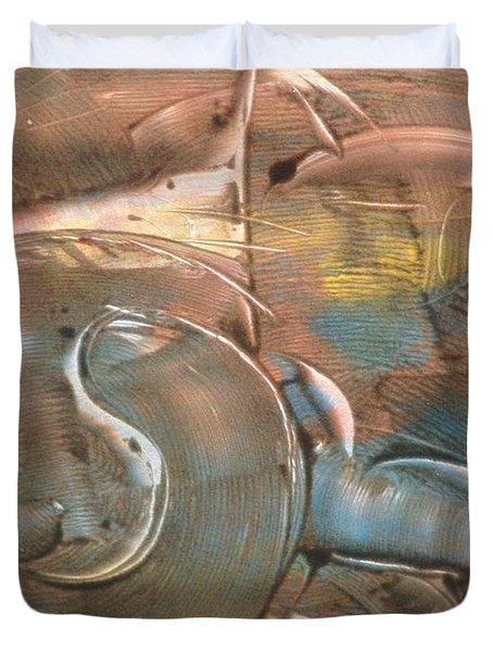 Feline Zen Duvet Cover