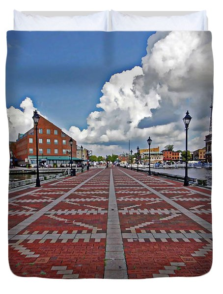 Fells Point Pier Duvet Cover