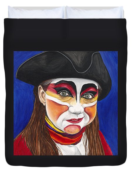 Female Carnival Pirate Duvet Cover by Patty Vicknair