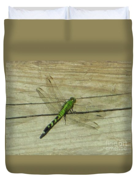 Female Eastern Pondhawk Dragonfly Duvet Cover