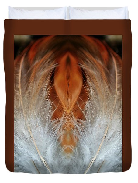 Female Feathers Duvet Cover