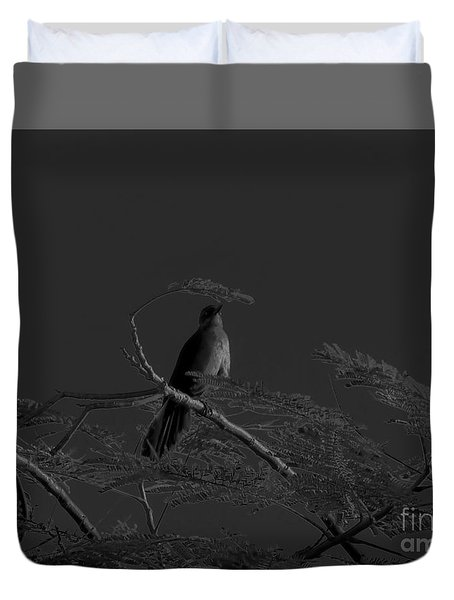 Female Grackle Duvet Cover