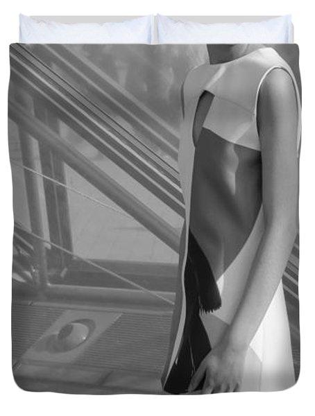 Female Model Duvet Cover