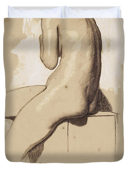 Female Nude - Study From Behind Duvet Cover
