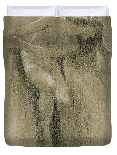 Female Nude Study  Duvet Cover by John Robert Dicksee
