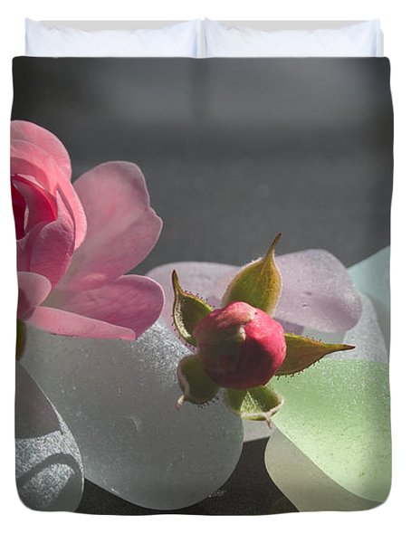 Feminine Duvet Cover by Barbara McMahon