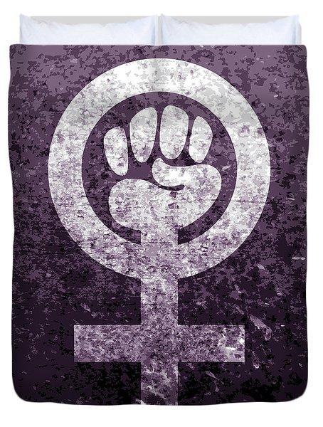 Feminism Symbol - Fighting For Gender Equality Duvet Cover