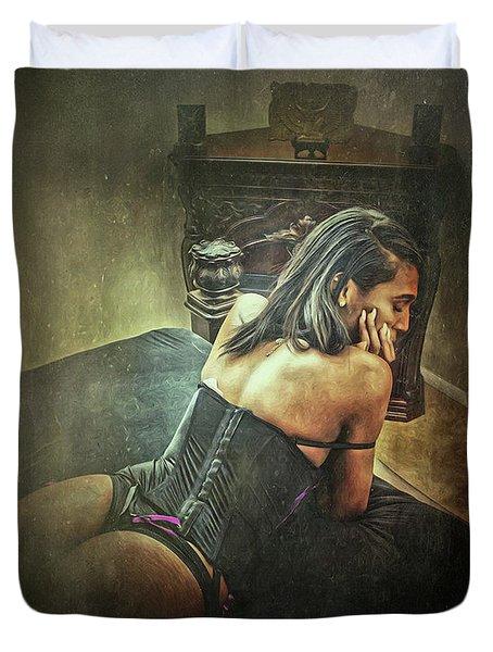 Femme Ix Duvet Cover by Donald Yenson