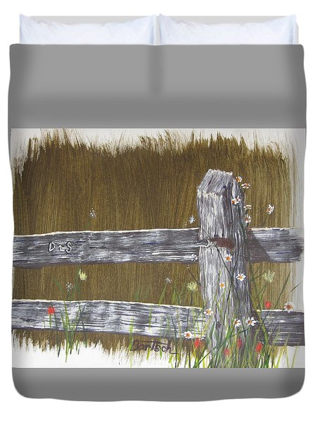 Fence D And S Duvet Cover