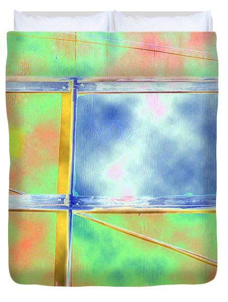Fence Me In Colorfully Duvet Cover