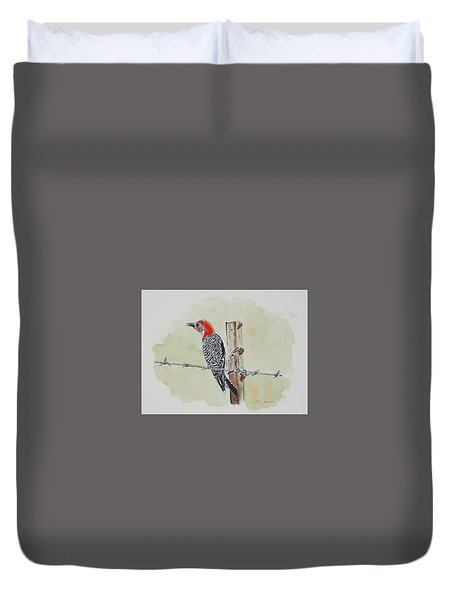 Fence Sitting Duvet Cover