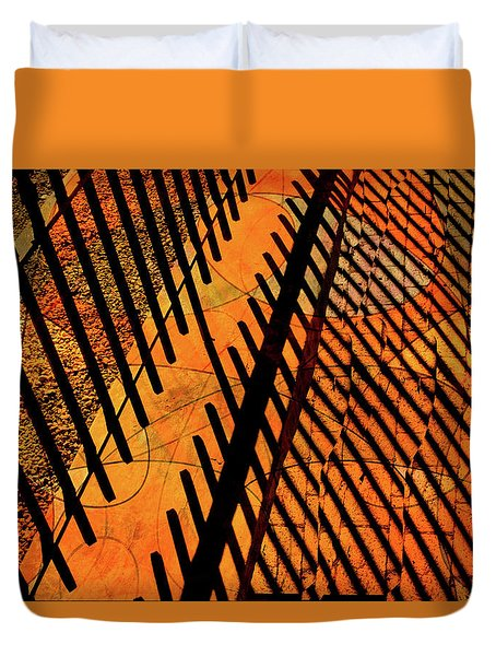 Fenced Framework Duvet Cover by Don Gradner