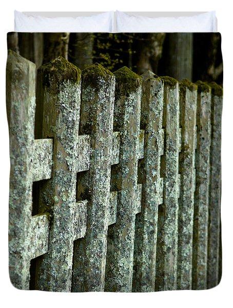 Fenced In Duvet Cover by Sebastian Musial