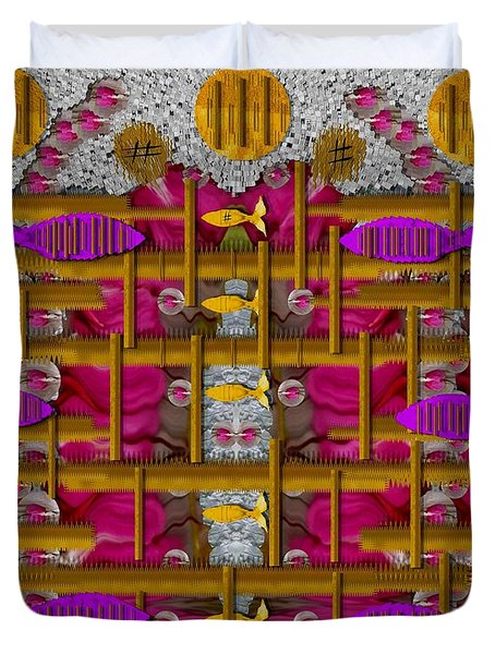Fences Around Love In Oriental Style Duvet Cover by Pepita Selles